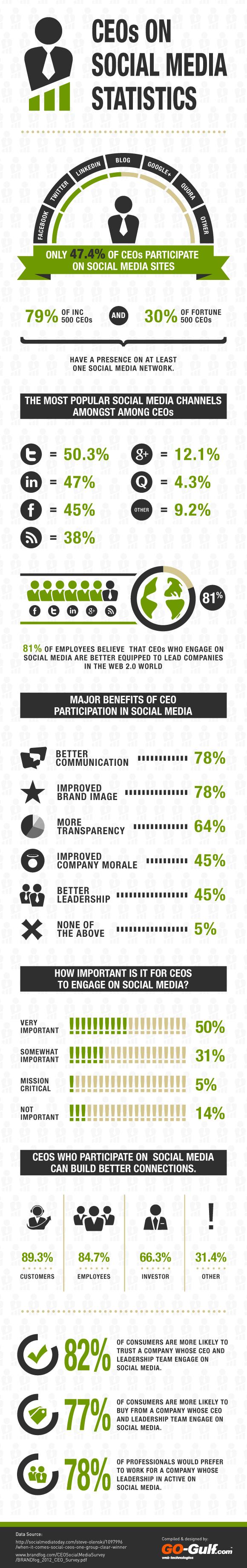 CEOs using social media